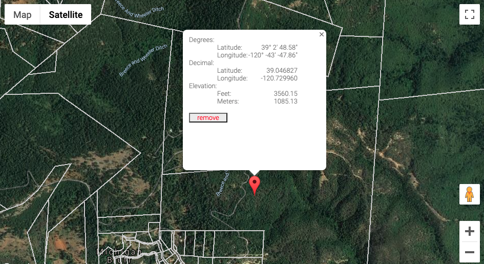 Point on property map